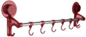 Shrih Pink Stainless Steel Rod and 6 - Pronged Hook Rail