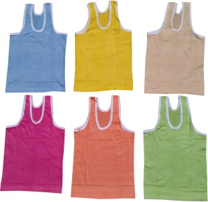 5f8f312fe Golden Feather Vest For kids Cotton Multicolor Pack of 6 Best Price ...