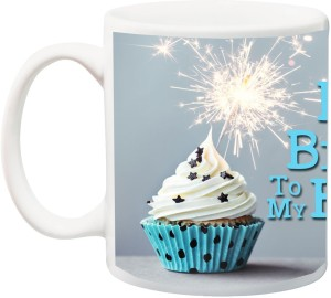 IZor Gift For HubbyHappy Birthday To My Husband Special Cake 3D Printed Ceramic Mug