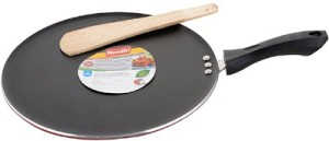 A To Z Sales Aluminum Non Stick Dosa and Chapathi Tawa, 32 cm(4 mm), Red and Black Tawa 32Cm cm diameter