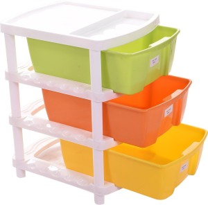 TRUENOW Ventures Pvt. Ltd. Plastic Multipurpose 3-Tier Utility Rack Plastic Wall Shelf