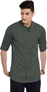 Wild Hunk Men's Solid Casual Green Shirt