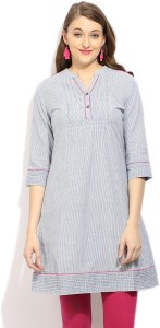 People Casual 3/4th Sleeve Solid Women's Grey Top