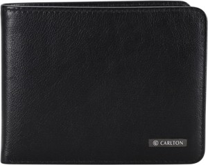 Carlton Men Black Genuine Leather Wallet