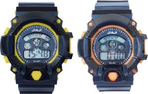 Creator Jiaji Multi Colour(Yellow&Orange)(Randam Colours Available) Combo Digital Watch  - For Boys & Girls