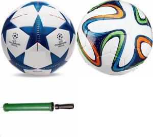 RSO UEFA & BRAZUKA FOOTBALL WITH AIR PUMP Football -   Size: 5