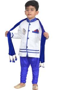 f2bf63932 FTC Bazar Boys Festive Party Kurta Pyjama Dupatta Set White Pack of ...