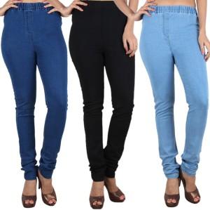 d06d8dfb49 Trusha Dresses Women s Multicolor Jeggings Pack of 3 Best Price in ...