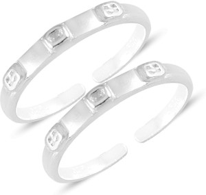 MJ 925 Sterling Silver Silver Plated Toe Ring