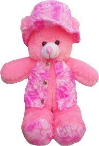 ADS Toys Beautiful Pink Fur Jacket Teddy Bear  - 70 cm
