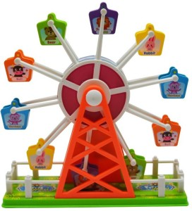 Trinkets & More Ferris Wheel London Eye   Giant Wheel with Clap Sensor Music and Lights   Visual and Auditory Stimulation   Educational Toy Fun for Kids 3+ Years