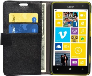 low priced 03d45 77a8d Pirum Flip Cover for Nokia Lumia 625Black, Leather