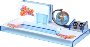 Fab Handicraft 5 Compartments Plastic Pen Stand Office Accessories