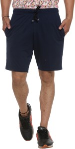 Vimal Solid Men's Dark Blue Basic Shorts