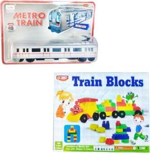 RMA Train Block Set with Centy Toys Metro Train