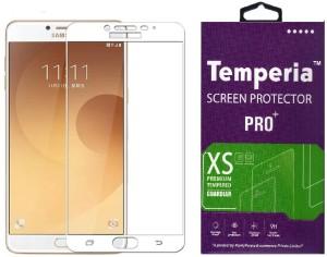 Temperia Tempered Glass Guard for Samsung Galaxy C7 Pro (5.7 inch, White) (Full Glass)