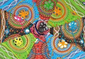 f337081bbd2e1 Lal Haveli Embroidered Kids Size Mini Umbrella Multicolor Best Price ...