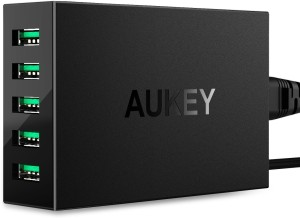 Aukey 50W 5 Ports USB Station Mobile Charger