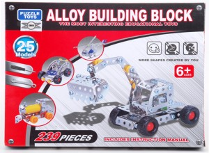 Emob 239 Pieces Metal Alloy Building Block With You Can Create 25 Different Models Interesting Puzzle Educational Mechanix Toys