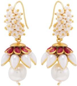 Nia for Voylla Artificial Classic Plain Brass Dangle Earring