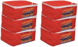 Kuber Industries Designer Non woven Saree cover Bag Set of 6 Pcs /Wardrobe Organiser/Regular Clothes Cover