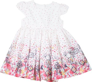 60e5d0ec88fc Mothercare Baby Girl s Casual Dress White Half Sleeve Best Price in ...