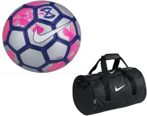 2872ad824a Retail World RetailWorld Strike X Silver Pink Football Size 5 with Gym  Duffle Bag Combo Football K Best Price in India