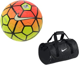 Retail World RetailWorld Ordem Orange/Yellow Football (Size-5) with Gym Duffle Bag Combo Football Kit