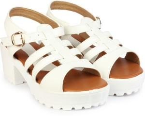 15010966b6f Do Bhai Women White Heels Best Price in India