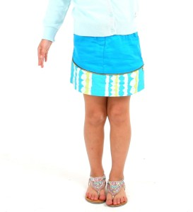 ad53257e308 Cherry Crumble California Printed Self Design Girls A line Blue Skirt Best  Price in India