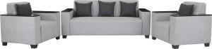 Sofame Singapore Fabric 3 + 1 + 1 Light Grey Sofa Set