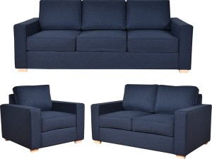 Furny Apollo Superb Fabric 3 2 1 Blue Sofa Set