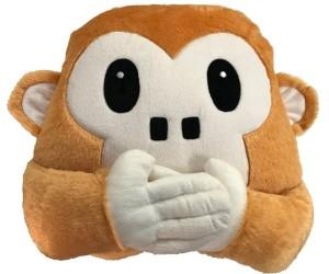 RMA Monkey Mouth Closed Smiley Cushion  - 35 cm