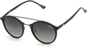 511a39aca8e94 IDEE S2216 C2P Medium 49mm Black Polarized Round Sunglasses Black ...