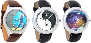 Jack Klein Combo of 3 Graphic Watch  - For Men