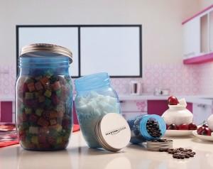 MasterCook Mason Jar  - 250 ml, 750 ml, 2000 ml Plastic Food Storage
