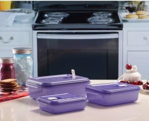 MasterCook Microclip  - 350 ml, 750 ml, 1450 ml Plastic Food Storage