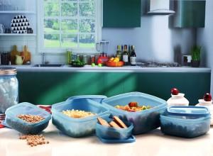 MasterCook Square  - 200 ml, 330 ml, 500 ml, 780 ml, 1350 ml Plastic Food Storage