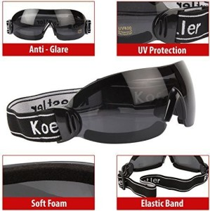 7074722bc598 RuggedTrails Riding Glasses with UV400 Protection and Strap Sports  GogglesBlack