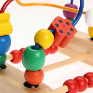 Trinkets More Wooden Beads Maze Roller Coaster Toddler Large Abacus Activity Centre Kids Magnet Educational Toys 12 Months1 Pieces