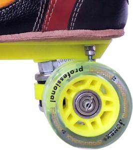 88a96c5a3999 JJ Jonex SUPER PROFESSIONAL SHOE Quad Roller Skates Size 9 UK Red ...