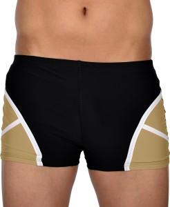 AquaChamp Swimwear - Export Quality - Black Swim Trunk for Men/Boys - 1705 Solid Men's Swimsuit
