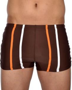 AquaChamp Swimwear - Export Quality - Brown Swim Trunk for Men/Boys - 1704 Solid Men's Swimsuit