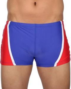 AquaChamp Swimwear - Export Quality - Blue Swim Trunk for Men/Boys - 1702 Solid Men's Swimsuit