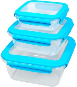 Shrih 3 PCS Set Container  - 700 ml, 1500 ml, 3000 ml Plastic Food Storage