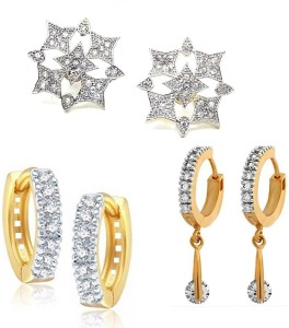 GoldNera Attractive AD Combo Alloy Stud Earring