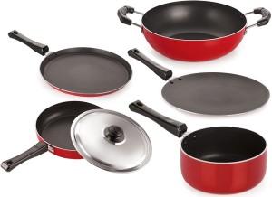 NIRLON Pots & Pans Set Tawa, Pan, Kadhai Set