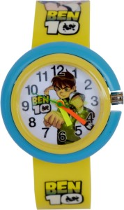 Creator Ben-10 Round Dial Yellow(Random Colours Available) New Model Gift Analog Watch  - For Boys & Girls