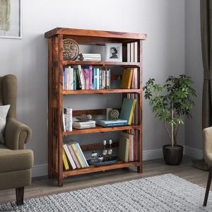 Urban Ladder Rhodes Folding Solid Wood Open Book Shelf