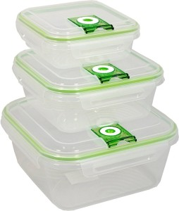 Shrih Set of 3Pcs Container  - 700 ml, 1500 ml, 3000 ml Plastic Food Storage